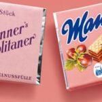 Вафли с лешников крем в розова опаковка