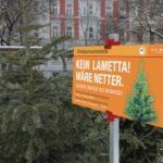 Виена: Следпразнична употреба на елхите