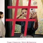 """Червен хаштаг покри известната картина """"Целувката"""" с призив за """"дигитално прочистване"""""""
