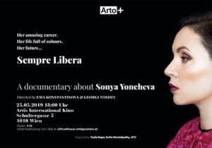 Соня Йончева, премиера на филм, Виена