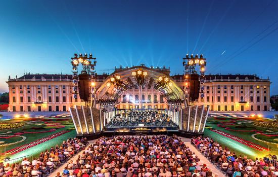 Виенска филхармония концерт в Шьонбрун