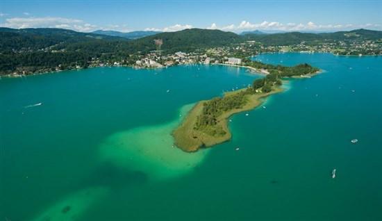 Блуменинзел, Австрия, езеро