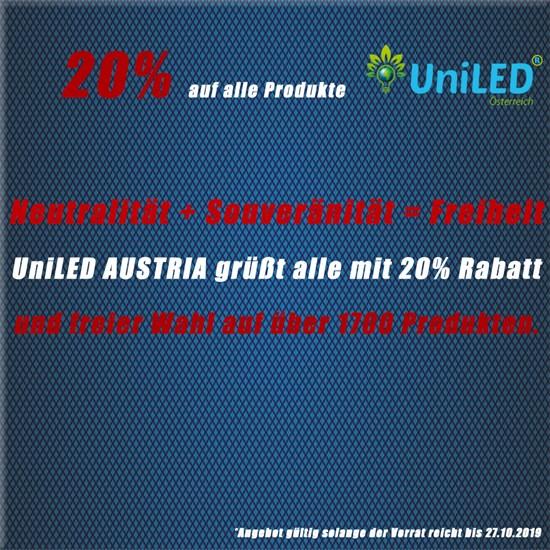Nationalfeiertag:UniLED grüßt alle mit 20% Rabatt