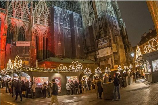 "коледен базар пред катедралата ""Св.Стефан"", Виена"
