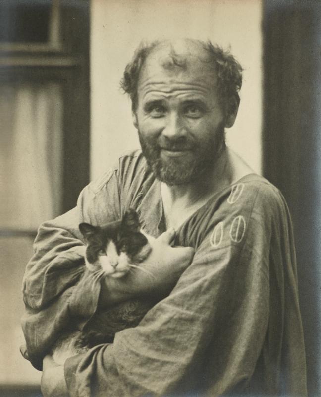 Густав Климт портрет с котка